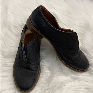 Bp deep blue lace less slip on Harlan oxfords